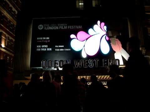 exterior shot of the odeon cinema at the the times bfi 49th london film festival - 'proof' screening on october 20, 2005. - odeon cinemas点の映像素材/bロール