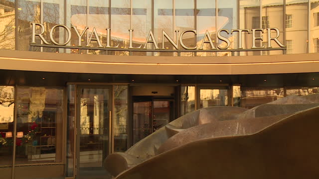 exterior shot of the royal lancaster hotel in london - panning stock videos & royalty-free footage
