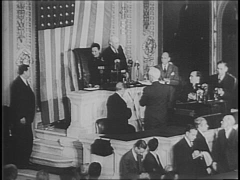 exterior shot of united states capitol building / eleanor roosevelt and madame chiang kaishek get out of car walk into capitol building / chiang... - alben w. barkley stock videos and b-roll footage