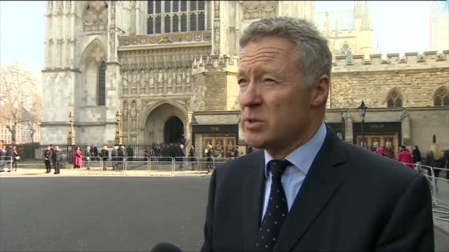 exterior shot rory bremner talking about the influence of sir david frost. on march 13, 2014 in london, england. - rory bremner stock videos & royalty-free footage
