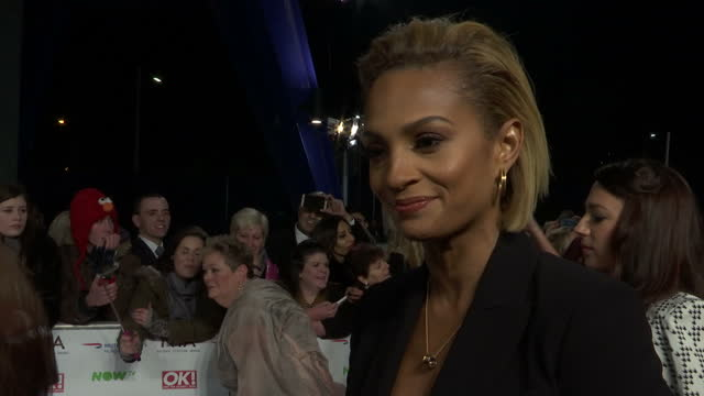 Exterior shots Alesha Dixon singer on National Television Awards red carpet talking about wanting to be a role model for young girls on January 20...