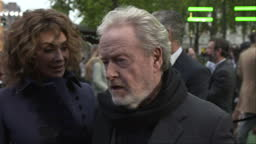 Covenant Film Premiere In Leicester Square Sir Ridley Scott Stock Footage Video