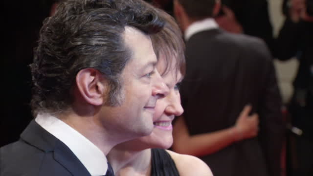 exterior shots andy serkis and lorraine ashbourne posing on red carpet the bafta television awards - red carpet arrivals at london palladium on june... - andy serkis stock videos & royalty-free footage