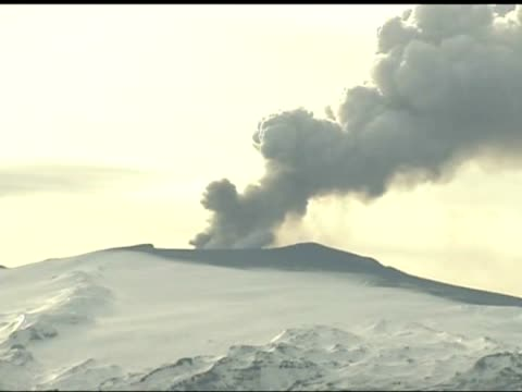 exterior shots ash cloud billowing over the Eyjafjallajokull volcano Another ash cloud's on its way the latest from Iceland on the volcanic disruption