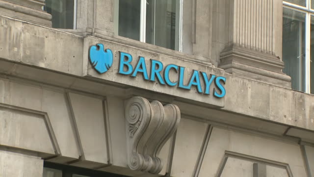 exterior shots barclays bank on 8th april 2020 in london, united kingdom - banking stock videos & royalty-free footage