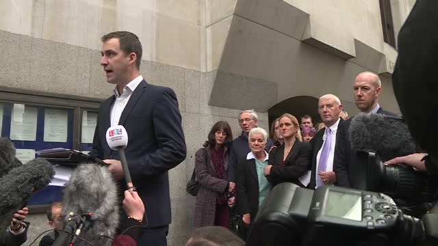 exterior shots brendan cox husband of murdered mp jo cox speaking outside the old bailey about the conviction of thomas mair on november 23 2016 in... - thomas mair stock videos and b-roll footage