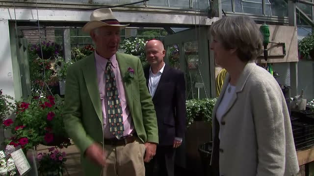 exterior shots british prime minister theresa may and former foreign secretary william hague during a visit to pot house hamlet during a general... - visit stock videos & royalty-free footage