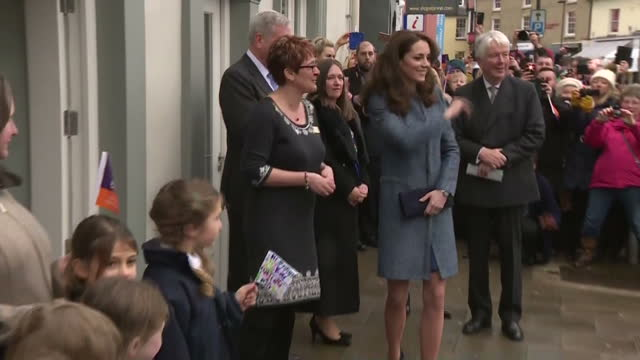 Exterior shots Catherine Duchess Of Cambridge opens a new EACH Charity Shop on March 18 2016 in Holt Norfolk