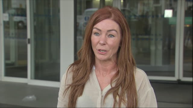exterior shots charlotte caldwell, mother of billy caldwell attends the press conference outside the chelsea and westminster hospital where billy... - greater london stock videos & royalty-free footage
