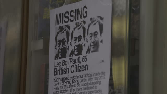 exterior shots closed bookstore with missing persons poster outside - book shop stock videos & royalty-free footage