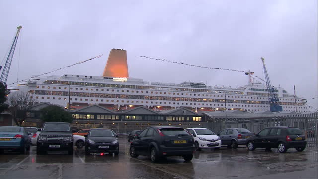 Exterior shots cruise ship Oriana docked in Southampton portThe cruise ship Oriana has returned to its homeport Southampton following a voyage where...