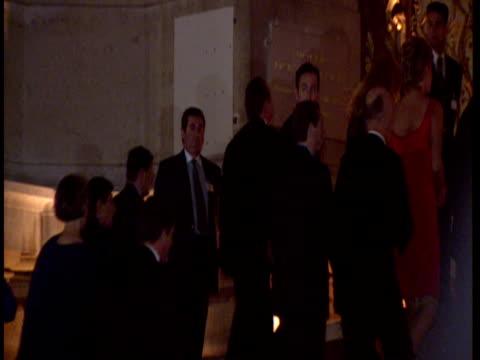 exterior shots diana princess of wales arrives at event in paris in red dress then departure diana princess of wales in paris on september 25 1995 in... - 1995 stock-videos und b-roll-filmmaterial