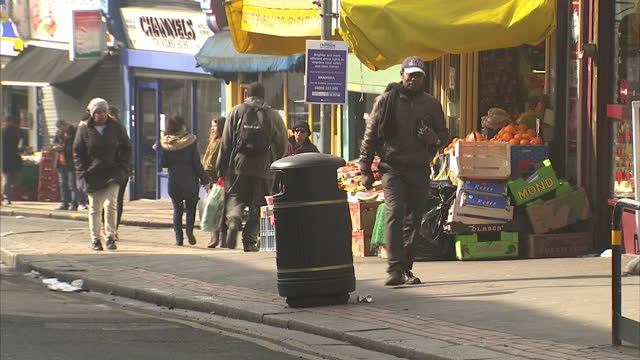 exterior shots ethnic multi cultural street scenes in south london on march 11 2016 in london england - multiracial group stock videos & royalty-free footage