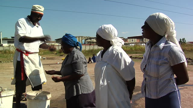 exterior shots faith healer performing ritual on april 18 2012 in harare zimbabwe - harare stock videos and b-roll footage