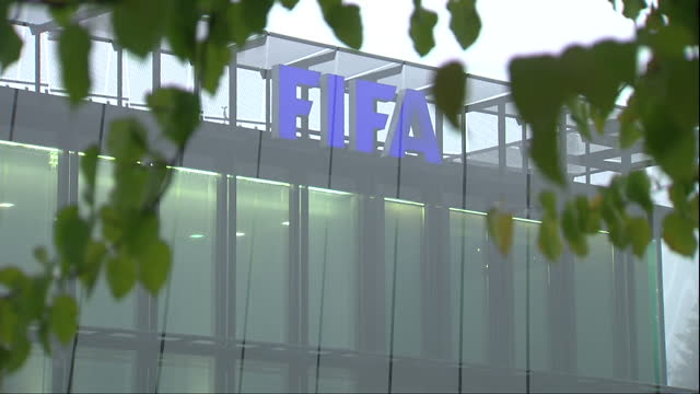 exterior shots fifa headquarters building on a foggy day in zurich switzerland fifa has formally begun the process of moving the 2022 world cup away... - fifa stock videos & royalty-free footage