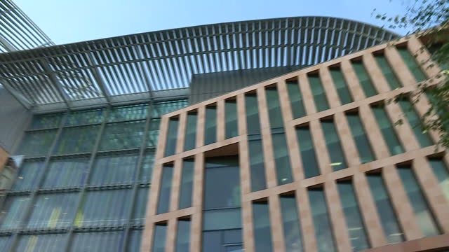 exterior shots francis crick institute - francis crick stock videos & royalty-free footage