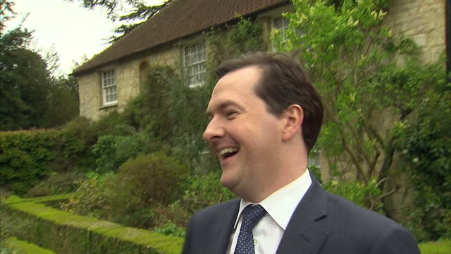 exterior shots george osborne chancellor of the exchequer cracks up laughing after using 'force is strong' pun george osborne laughing at star wars... - george osborne stock videos and b-roll footage