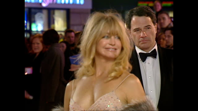 Exterior shots Goldie Hawn actress on red carpet at the BAFTA Awards on February 25 2001 in London England