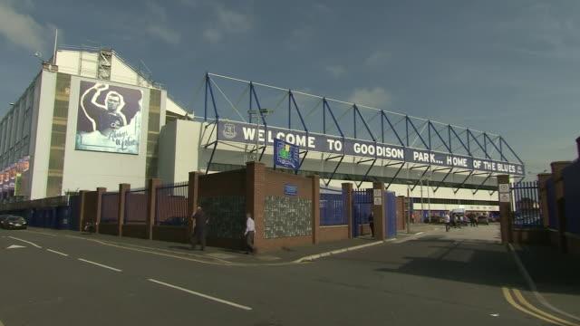 vidéos et rushes de exterior shots goodison park, everton football club's home stadium in liverpool, england 29th september 2015 - everton