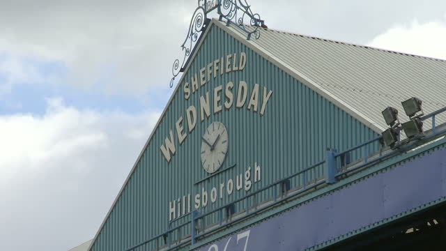 exterior shots hillsborough football stadium, home to sheffield wednesday football club and the scene of the 1989 hillsborough disaster. on april 26,... - hillsborough stadium stock videos & royalty-free footage