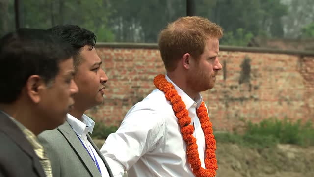 Exterior shots HRH Prince Harry visits the Samo Thimi Technical School Bhaktapur on March 23 2016 in Pokhara Nepal