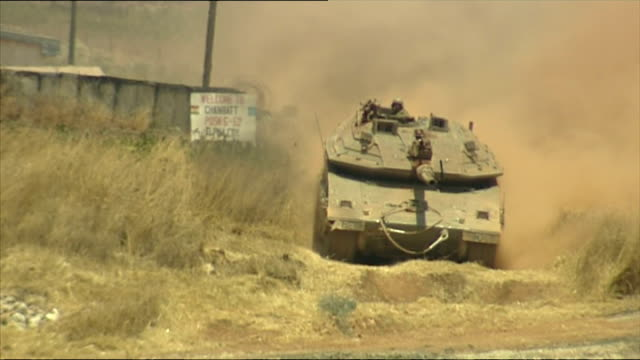 exterior shots idf at israel lebanon border on july 24 2006 in unspecified israel - hezbollah stock videos & royalty-free footage