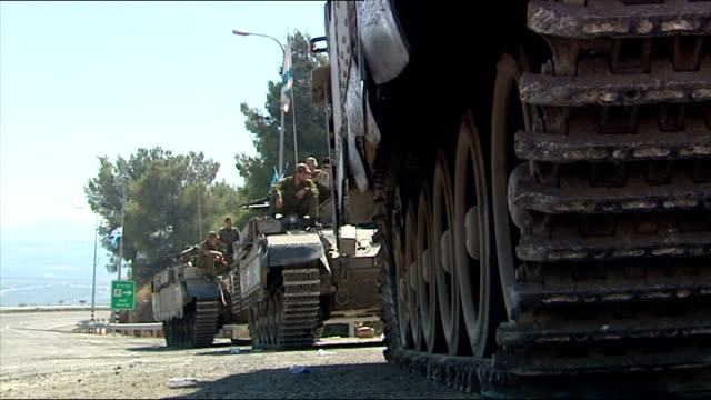 Exterior shots IDF at Israel Lebanon border on July 24 2006 in UNSPECIFIED Israel