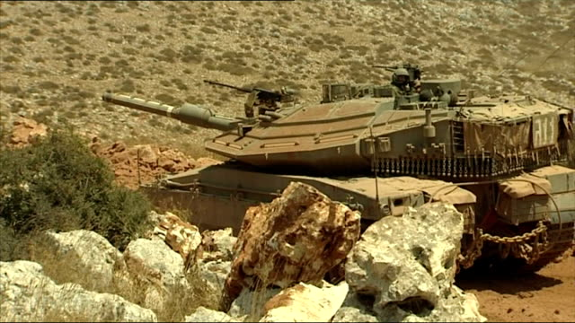 exterior shots idf at israel lebanon border on july 24 2006 in unspecified israel - 2006 stock videos & royalty-free footage