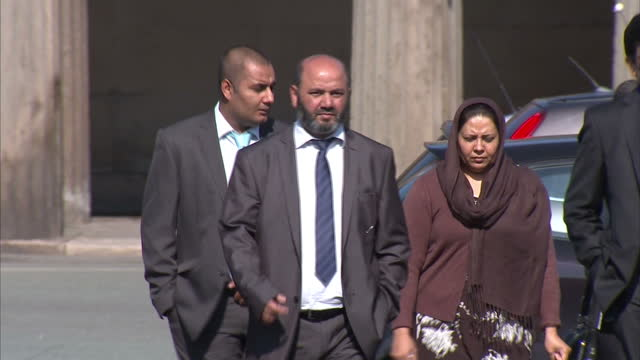 exterior shots iftikhar ahmed farzana ahmed accused of murdering their daughter shafilea ahmed walking into chester crown court iftikhar ahmed... - honor killing stock videos & royalty-free footage