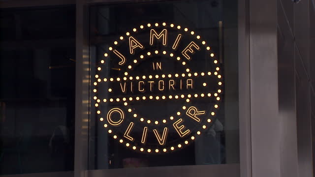 exterior shots jamie oliver's restaurant 'jamie's italian' in victoria on march 06, 2016 in london, england. - jamie oliver stock videos & royalty-free footage