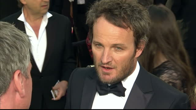 exterior shots jason clarke chats on the red carpet about his role in zero dark thirty jason clarke chats on the red carpet at dolby theatre on... - the dolby theatre stock videos & royalty-free footage