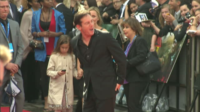 exterior shots jason isaacs poses on the red carpet at the premier of harry potter the deathly hallows part 2 jason isaacs on the red carpet on july... - jason isaacs stock videos & royalty-free footage