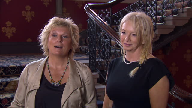 Exterior shots Jennifer Saunders Judy Craymer discuss their collaboration on the musical Viva Forever Jennifer Saunders Judy Craymer on Viva Forever...