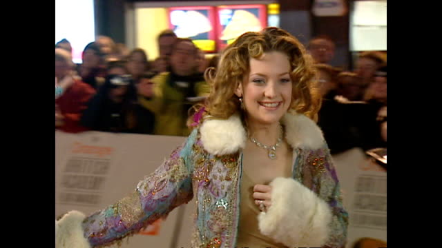exterior shots kate hudson actress on red carpet at the bafta awards on february 25 2001 in london england - kate hudson stock videos & royalty-free footage
