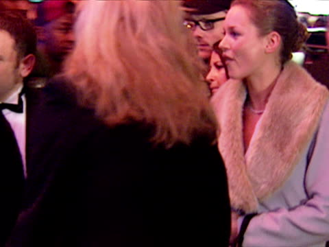 Exterior shots Kate Moss and Meg Matthews arrive at Titanic Premiere Titanic Premiere Exteriors at Leicester Square on November 18 1997 in London
