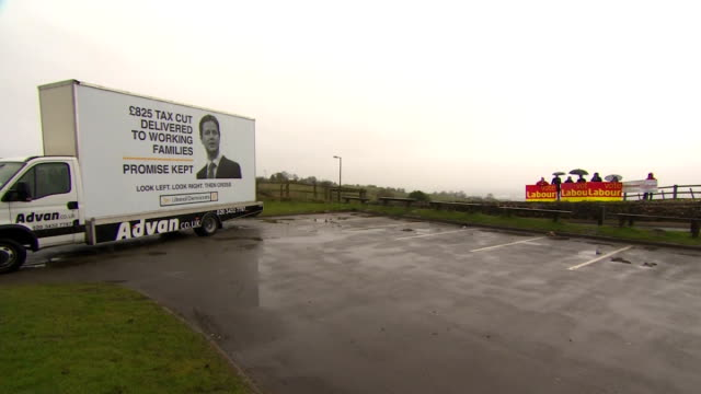 exterior shots labour party supporters crashing liberal democrats poster launch on april 03, 2015 in hazlegrove, united kingdom. - british liberal democratic party stock videos & royalty-free footage