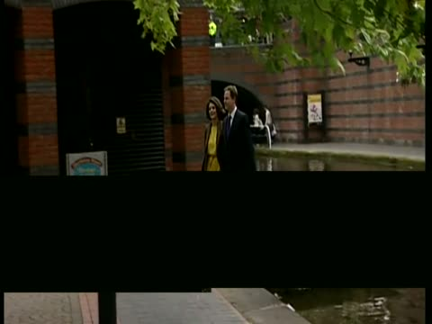 exterior shots lib dem leader deputy prime minister nick clegg walks with his wife miriam gonzalez durantez into the liberal democrats conference... - british liberal democratic party stock videos & royalty-free footage