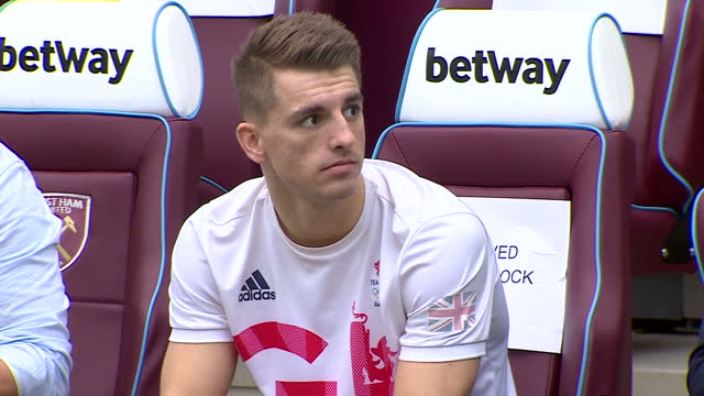 Exterior shots Max Whitlock Olympic medalist sitting attends Coach Core graduation ceremony for more than 150 Coach Core apprentices at The London...