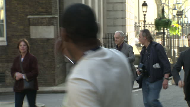 exterior shots members of the arts council including patrick stewart penelope wilson maxine peake samuel west malcolm sinclair arrive outside no 10... - sinclair institute stock videos and b-roll footage