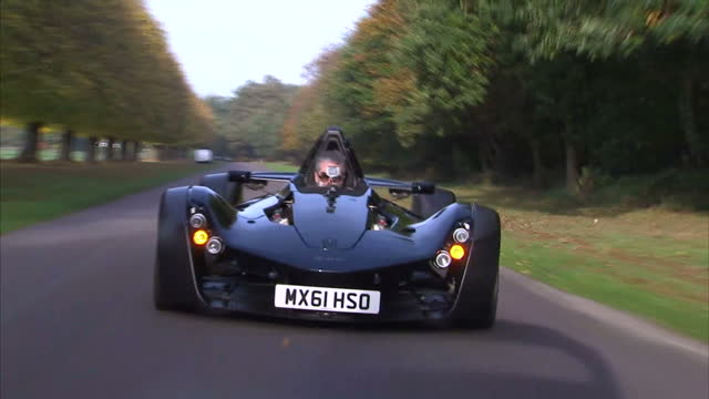 exterior shots mono supercar test drive on october 31 2016 in liverpool england - 試運転点の映像素材/bロール