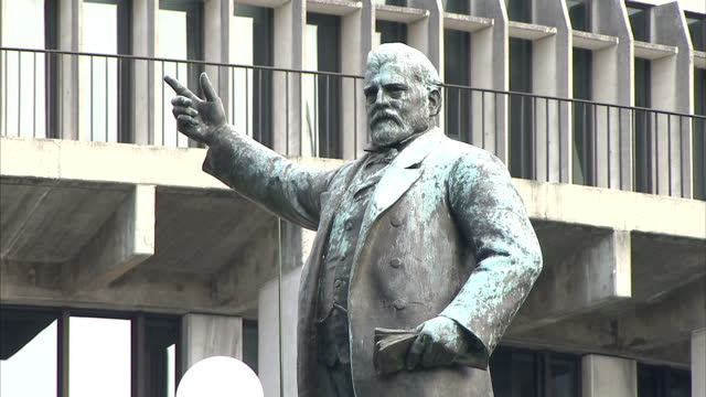 Exterior shots New Zealand Parliament Buildings including Bowen House The Beehive and Parliament House Parliamentary Library on April 6 2014 in...