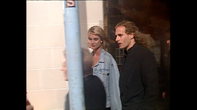 Exterior shots Nicollette Sheridan and Michael Bolton at Opening of Planet Hollywood Restaurant in London on May 17 1993 in London England