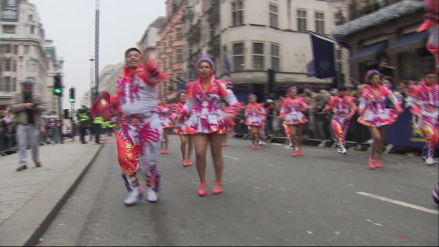 exterior shots of 2020 london's new year's day parade on january 01, 2020 london, england. - human interest stock videos & royalty-free footage