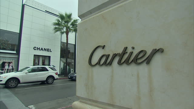 Exterior shots of a Cartier shop on Rodeo Drive on November 30 2012 in Los Angeles California
