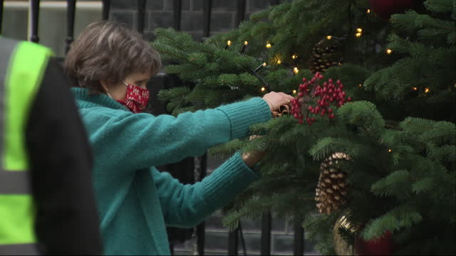 GBR: Downing Street Christmas Tree