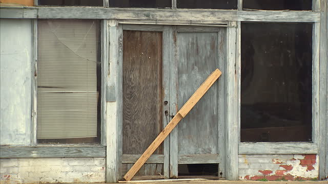 Exterior shots of a derelict building on which the Selma voting rights mural is painted>> on March 07 2015 in Selma Alabama