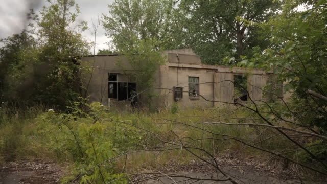 exterior shots of a derelict building that was searched by police in connection to a criminal investigation of christian b the lead suspect in the... - madeleine mccann stock videos & royalty-free footage