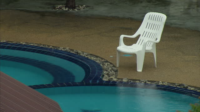 exterior shots of a holiday resort and surrounding hills forests on koh phi phi island on august 28 2014 in thailand - inselgruppe phi phi stock-videos und b-roll-filmmaterial