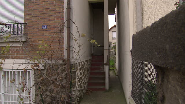 Exterior shots of a house at 48 Rue Georges Tarral in Bobigny the home of one of the terror suspects in the Paris attacks on November 16 2015 in...
