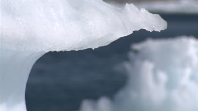 exterior shots of a melting iceberg floating in the sea. on august 25, 2007 in cambridge bay, canada. - icecap stock videos & royalty-free footage